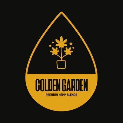 Logo Creator Featuring a Cannabis Plant for Premium Hemp Blends 4210e-el1
