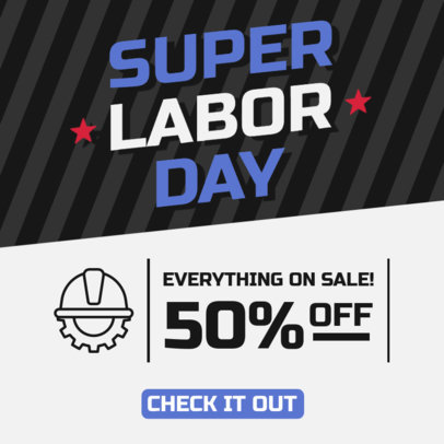 Labor Day-Themed Instagram Post Template Featuring a Special Offer 4318a-el1