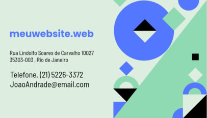 Abstract Business Card Design Template for a Web Developer 3974d