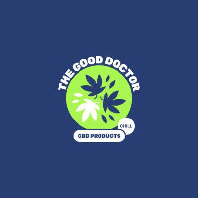 Hemp Store Logo Template Featuring Cannabis Leaf Graphics 4312b-el1