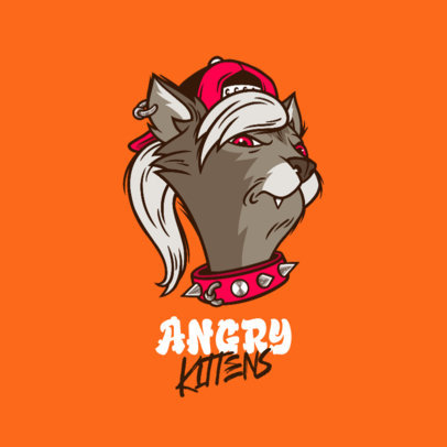 Clothing Brand Logo Maker Featuring an Angry Cat Graphic 4576i