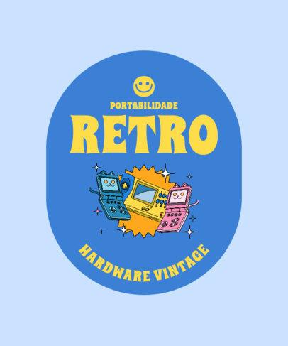 T-Shirt Design Generator Featuring Vintage Gaming Hardware 3981c