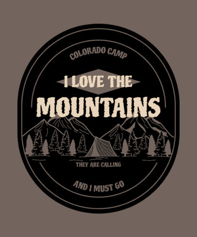 Quote T-Shirt Design Creator for Outdoor Enthusiasts Featuring a Mountain Landscape 3965g