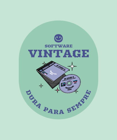 T-Shirt Design Creator with a Retro Gaming Disk Graphic 3981a