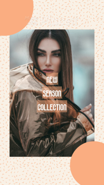 Instagram Story Video Maker for a Clothing Brand's New Season Collection Promo 1333b 3944