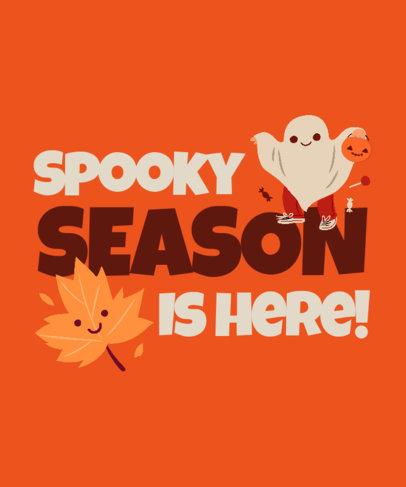 T-Shirt Design Template to Celebrate Autumn Season 3995d