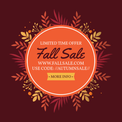 Illustrated Ad Banner Creator for a Fall Sale 3991c