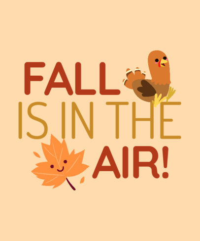 Fall-Themed T-Shirt Design Maker with Sweet Illustrations 3995e