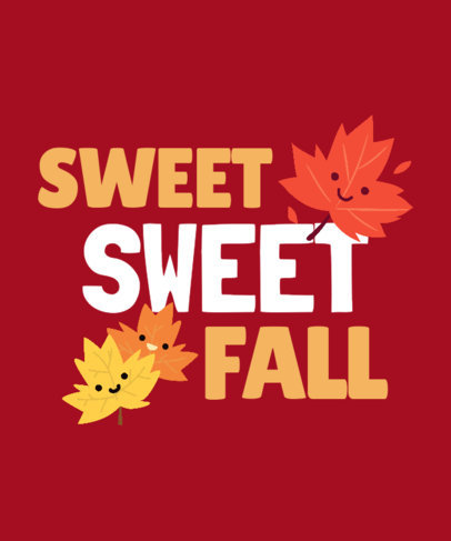 Sweet T-Shirt Design Maker to Celebrate Autumn Season 3995i