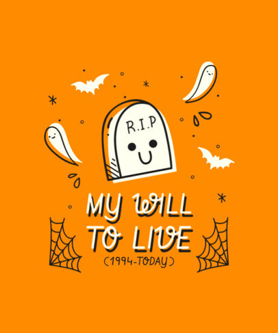 T-Shirt Design Generator Featuring Cute Halloween Characters and Funny Quotes 4357-el1