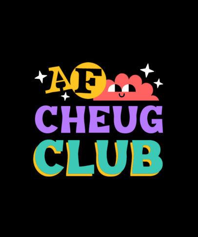 T-Shirt Design Template for a Cheugy Social Club 3999a