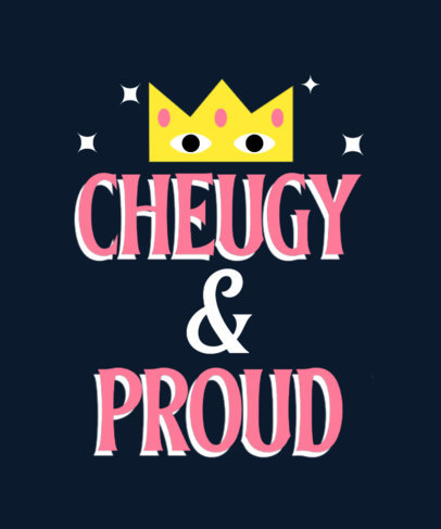 Funny T-Shirt Design Maker with a Proud Cheugy Phrase 3999h