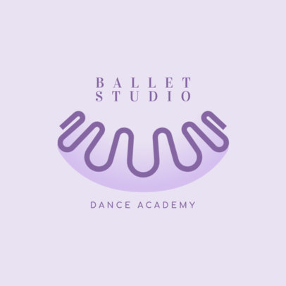 Logo Maker for a Ballet Studio Featuring Abstract Shapes 4608e