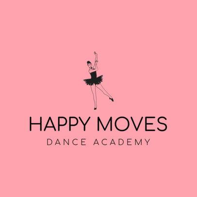 Logo Creator for a Dance Academy with a Ballerina Graphic 4605b