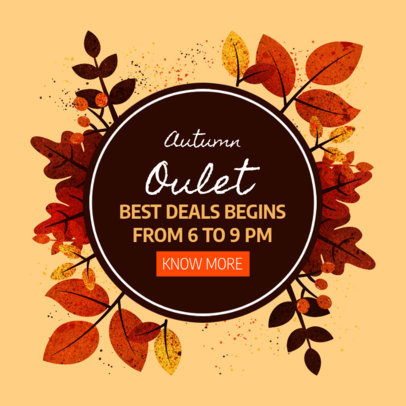 Ad Banner Generator to Announce an Autumn Outlet 3991f