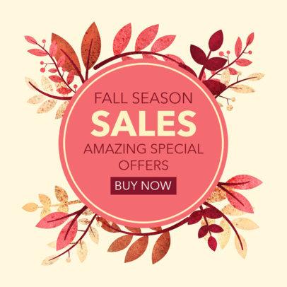 Ad Banner Creator to Announce a Fall Season Sale 3991g