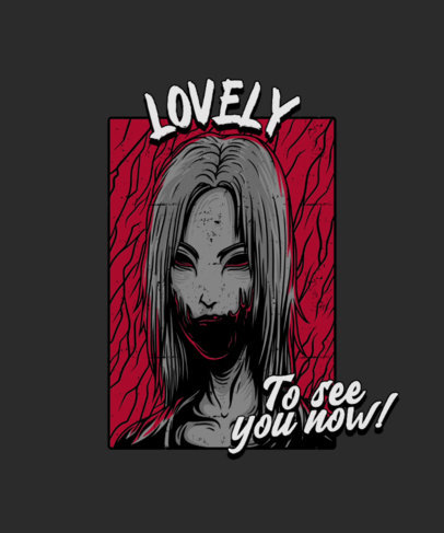 T-Shirt Design Creator Featuring a Horror Character with a Disfigured Face 4349e-el1