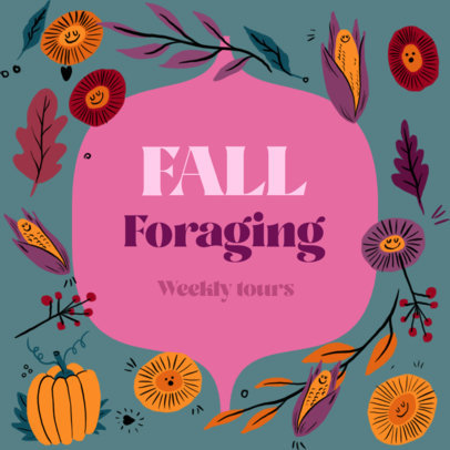 Instagram Post Design Template Announcing a Fall Foraging Tour 3993h