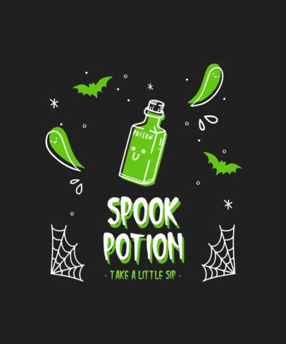 T-Shirt Design Generator Featuring Cute Halloween-Themed Illustrations 4357c-el1