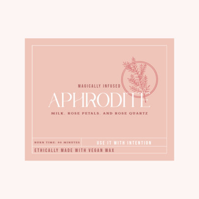 Logo Template for Organic Candles Featuring a Label Layout 4597c