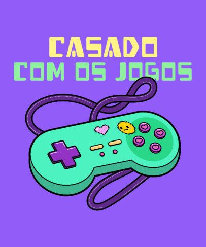 Retro T-Shirt Design Maker with a Graphic of a Gaming Controller 3982e