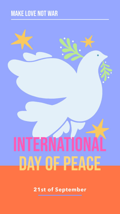 Instagram Story Design Template to Share on International Day of Peace 4029