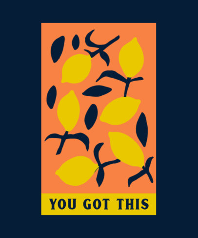 Quote T-Shirt Design Generator with a Lemon-Themed Pattern 4364c