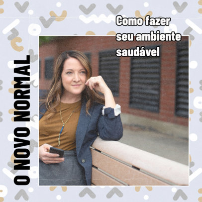 Facebook Post Design Creator With Back-to-Normal Tips and Text in Portuguese 2464j-4031