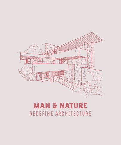 T-Shirt Design Template with an Architecture Theme 4027d