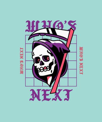T-Shirt Design Maker Featuring an Old School Grim Reaper Tattoo 4020d