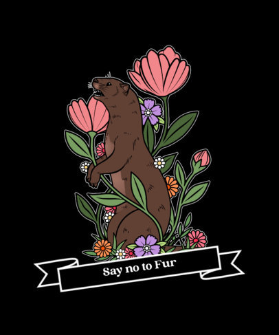 T-Shirt Design Maker for Vegans with Friendly Animal Illustrations 4016a