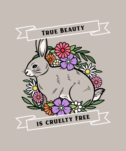 T-Shirt Design Maker for a Cruelty-Free Campaign with a Rabbit Illustration 4016d