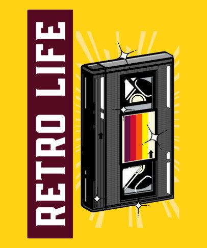 Retro T-Shirt Design Maker with a Graphic of a VHS Tape 4022e
