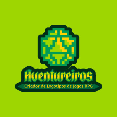 Role Playing Gaming Logo Maker with an 8-Bit Style 4625d