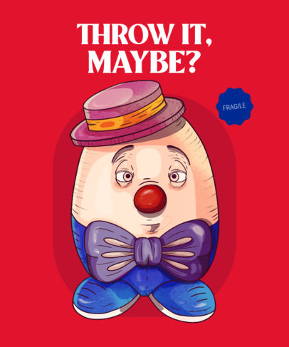 T-Shirt Design Maker with a Vintage Humpty Dumpty-Inspired Toy 4028c