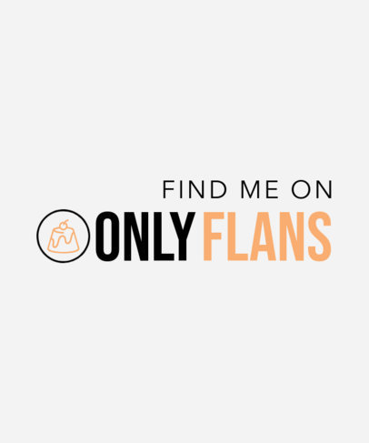 T-Shirt Design Template with a Parody of Only Fans 4053