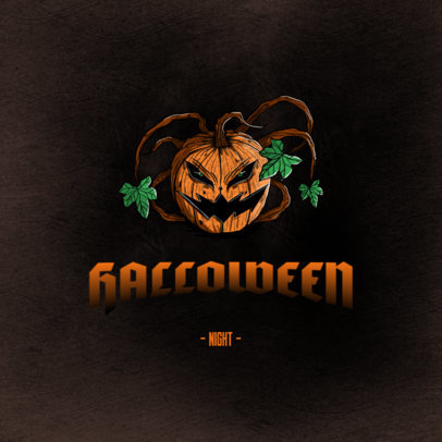 Gaming Logo Template Featuring Grunge Halloween Characters 4639