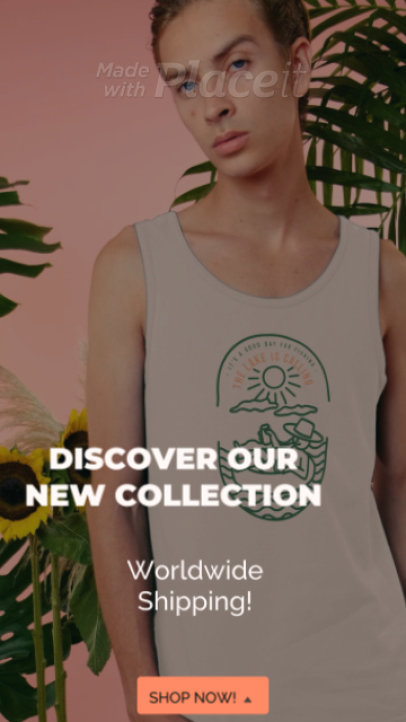 Instagram Story Video Generator to Announce a New Clothing Collection 1572g 4007-el1