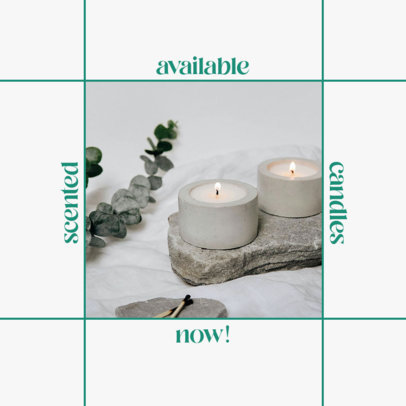 Instagram Post Template for a Handmade Candles Business 4374-el1