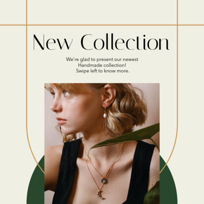 Instagram Post Design Template for a Handmade Jewelry Brand 4329-el1