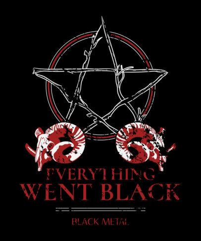 T-Shirt Design Maker for Black Metal Musicians With a Pentagram Graphic 4041