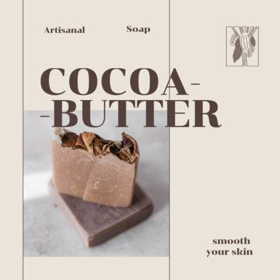 Instagram Post Maker Featuring a Cocoa Butter Artisanal Soap 4333d-el1