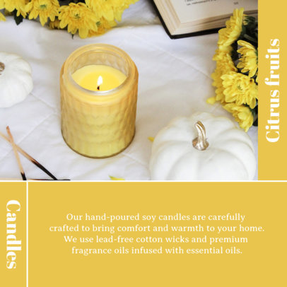 Instagram Post Template With a Minimal Layout and Handmade Candles Pictures 4375a-el1