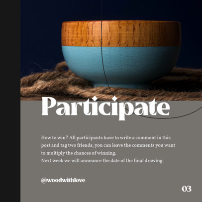 Instagram Post Design Template to Promote Artisanal Products on a Carousel 4327b-el1