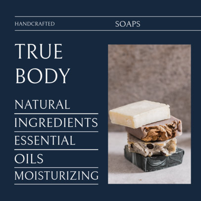 Instagram Post Creator for a Handcrafted Soap Benefits Ad 4334c-el1