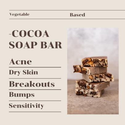 Instagram Post Generator for a Vegetable Based Cocoa Soap Bar 4334d-el1