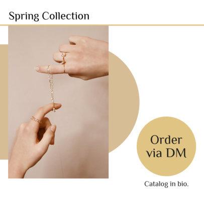 Instagram Post Design Maker to Showcase an Artisanal Jewelry Brand 4331f-el1