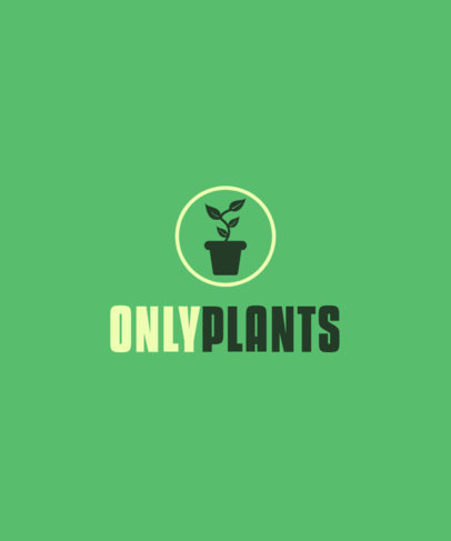 T-Shirt Design Generator with an Only Plants Parody 4054c