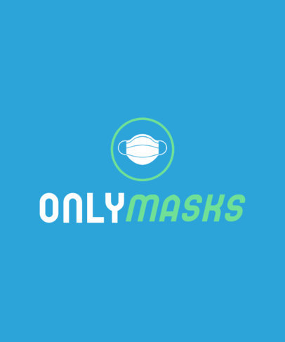 Parody T-Shirt Design Creator Featuring a Mask Icon in an OnlyFans-Inspired Style 4054f