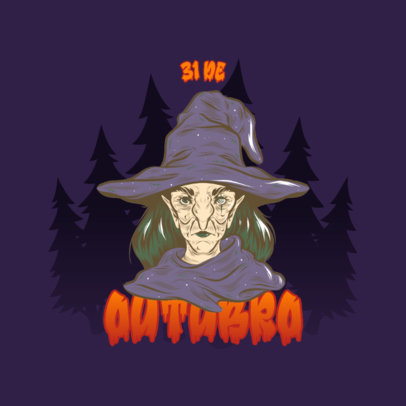 Logo Maker for a Gaming Channel Featuring an Eerie Witch Graphic 4637c